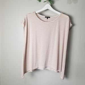 Tart cap sleeves striped top size S